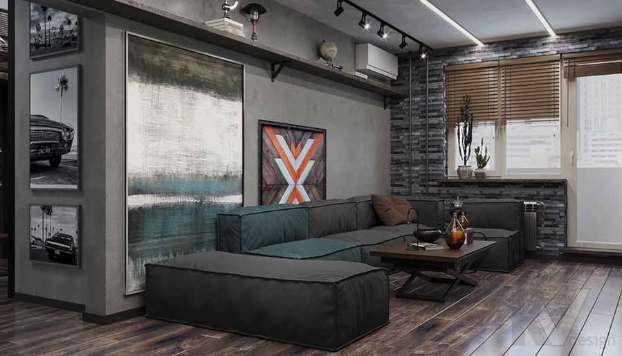 Дизайн гостиной в квартире П-44, м. Кузьминки - 4