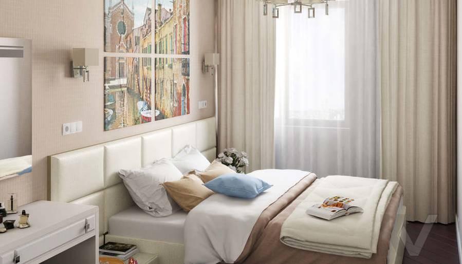 Дизайн 3 комнатной квартиры ЖК Богородский, спальня - 1