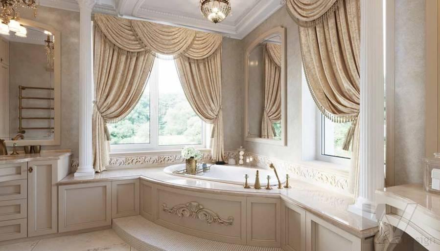 Ванная комната в загородном доме, Медвежьи Озера - 1