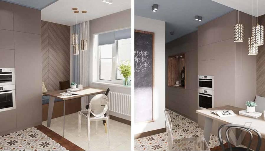 Дизайн кухни в квартире серии П-3М, Южное Бутово - 3