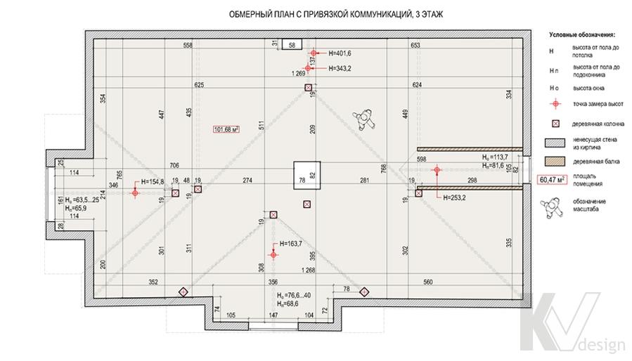 Планировка третьего этажа дома в поселке Павлово