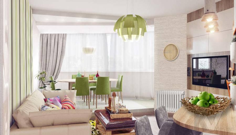 дизайн кухни в 3-комнатной квартире, Митино
