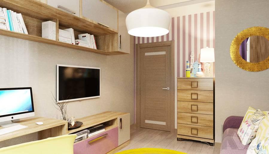 дизайн гостевой комнаты в 3-комнатной квартире, Митино - 1