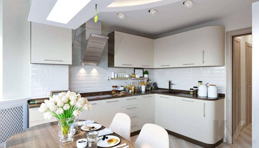 Дизайн кухни в 3-комнатной квартире П-3М, Новое Ясенево - 3