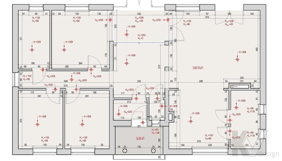 Обмерный план будущего дома в Софрино