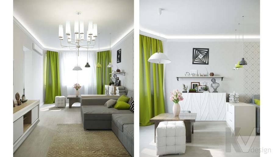 Дизайн гостиной в квартире П-3М на Профсоюзной - 3