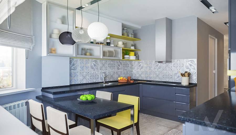 Дизайн кухни в двухкомнатной квартире, Сходненская - 3