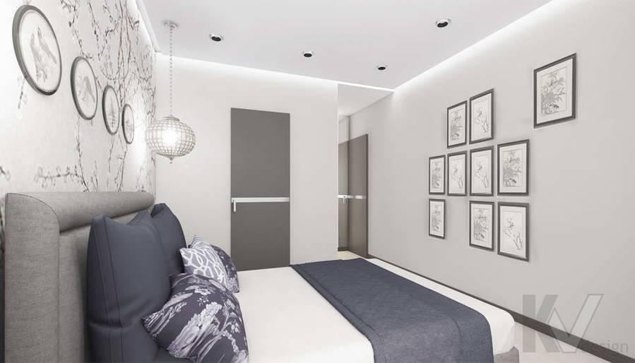 Дизайн спальни в 3-комнатной квартире П-3М, Новое Ясенево - 3