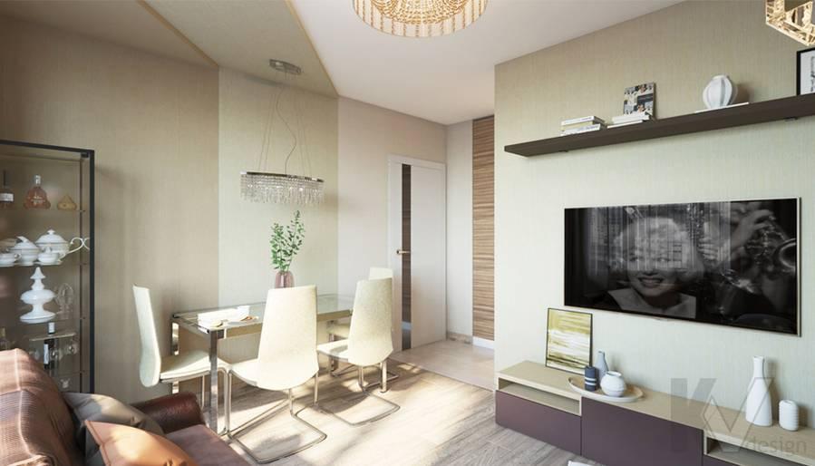 дизайн гостиной в 3-комнатной квартире, Welton Park - 4