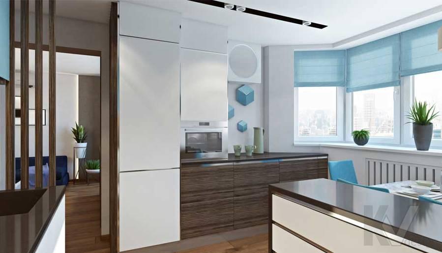 Кухня в квартире П-44Т в г. Московский - 2