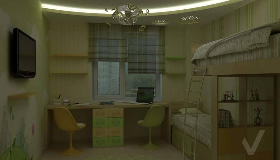 Дизайн детской комнаты в двухкомнатной квартире - ночное освещение