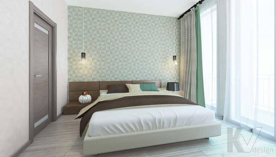дизайн спальни в 3-комнатной квартире, Троицк - 2