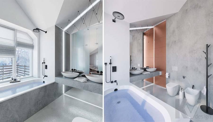 Дизайн ванной в доме, КП Пестово - 1