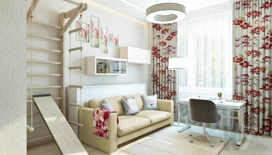 Дизайн детской девочки в квартире, ЖК Авеню-77 - 2