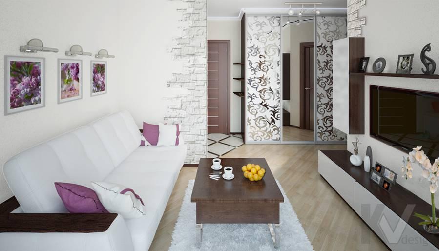 Дизайн гостиной в 2-комнатной квартире - 2