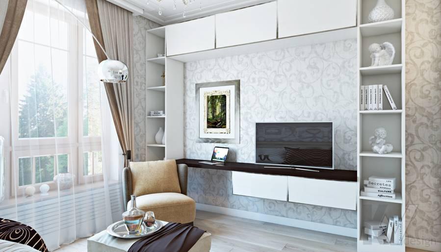 Гостевая комната в двухкомнатной квартире, ЖК Виноградный - 2