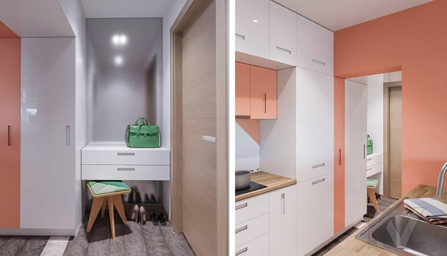 Дизайн гостиной-кухни П-44Т, Бутово Парк - 4