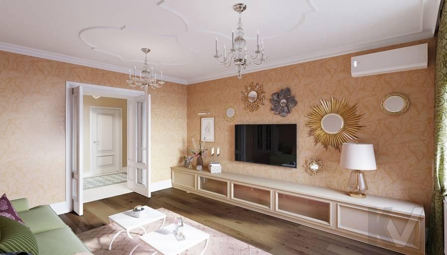 Дизайн гостиной в квартире на м. Смоленская - 4