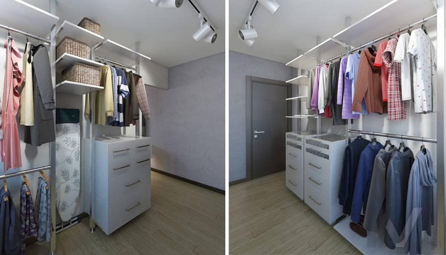 дизайн гардеробной в 3-комнатной квартире П-44Т, Речной вокзал - 1