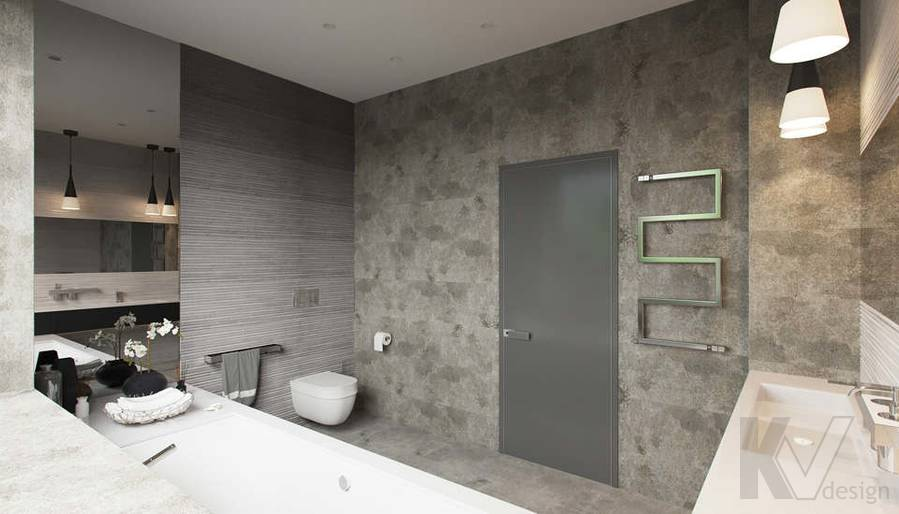 """Дизайн ванной в доме,  КП """"Западная Долина"""" - 3"""