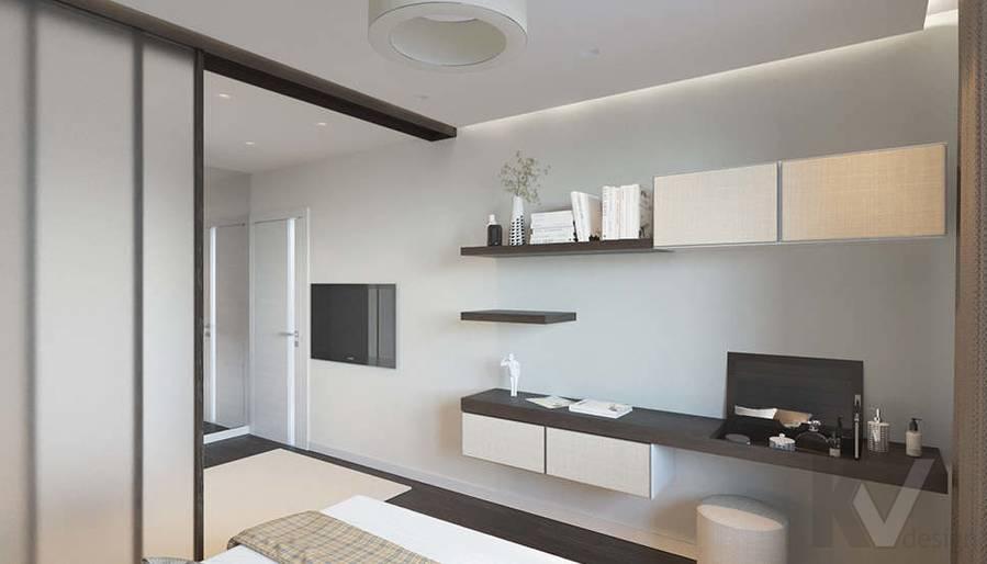 Дизайн спальни в 2-комнатной квартире П-44Т, Московский - 2