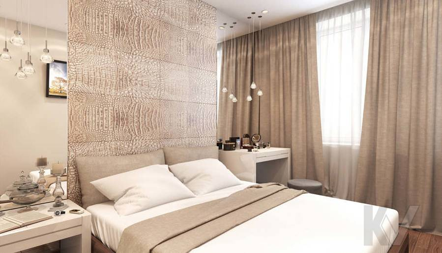 Дизайн спальни в 2-комнатной квартире, Реутов - 2