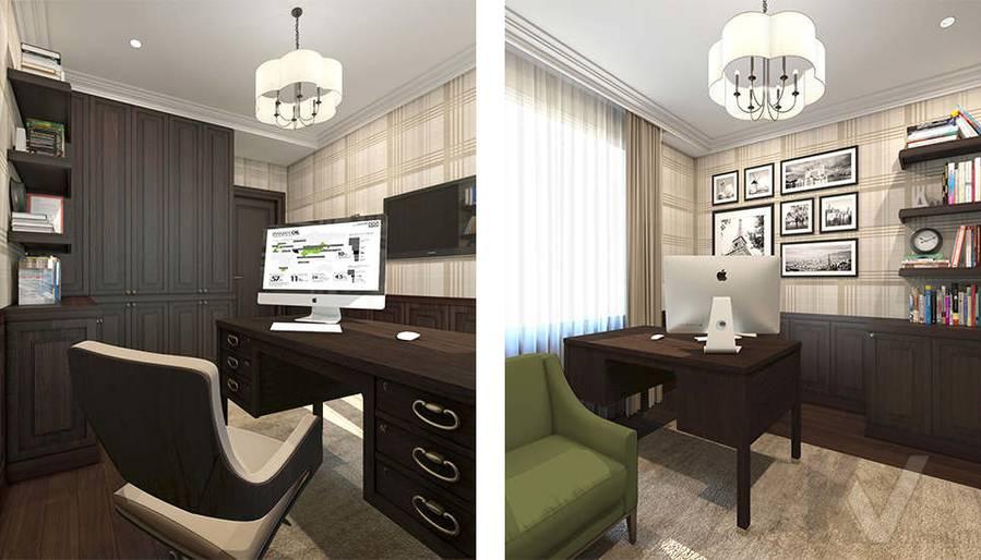 дизайн кабинета в 3-комнатной квартире, Welton Park - 4