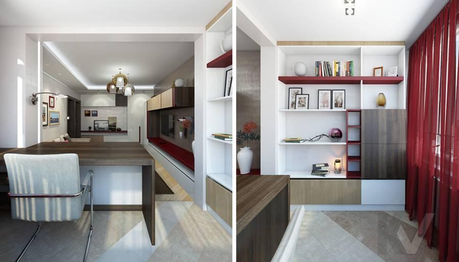 дизайн гостиной в 3-комнатной квартире П-44Т, Речной вокзал - 5