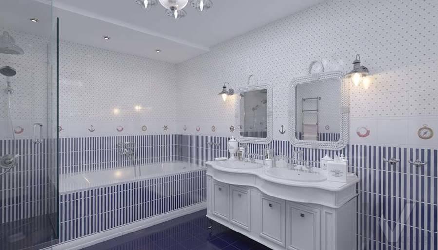 Дизайн детской ванной в доме, КП «Парк Авеню» - 1