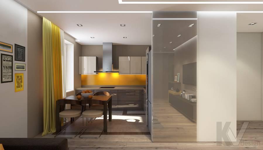 дизайн кухни в квартире на проспекте Вернадского - 2