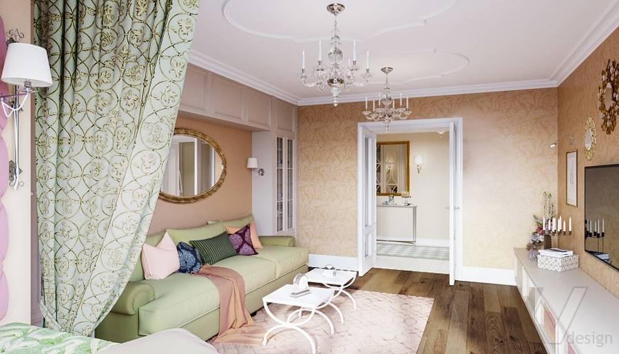 Дизайн гостиной в квартире на м. Смоленская - 6