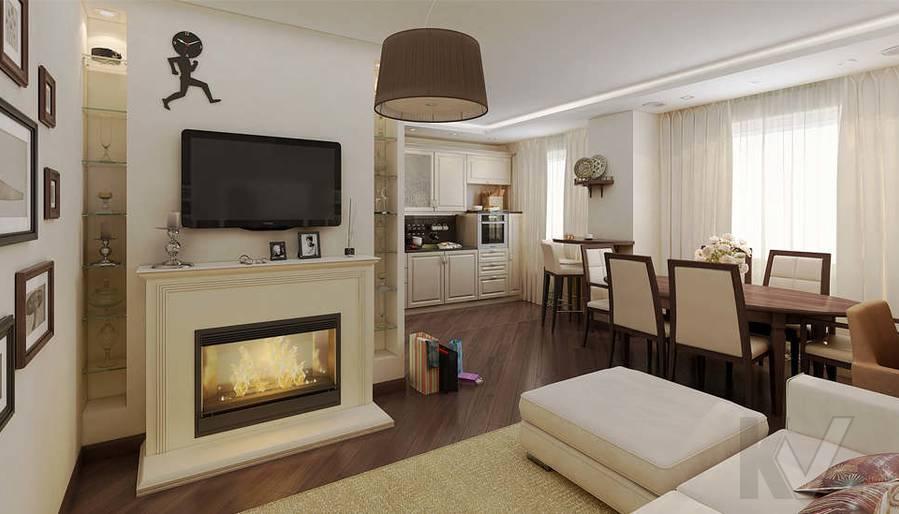 Дизайн 3 комнатной квартиры ЖК Богородский, гостиная - 1