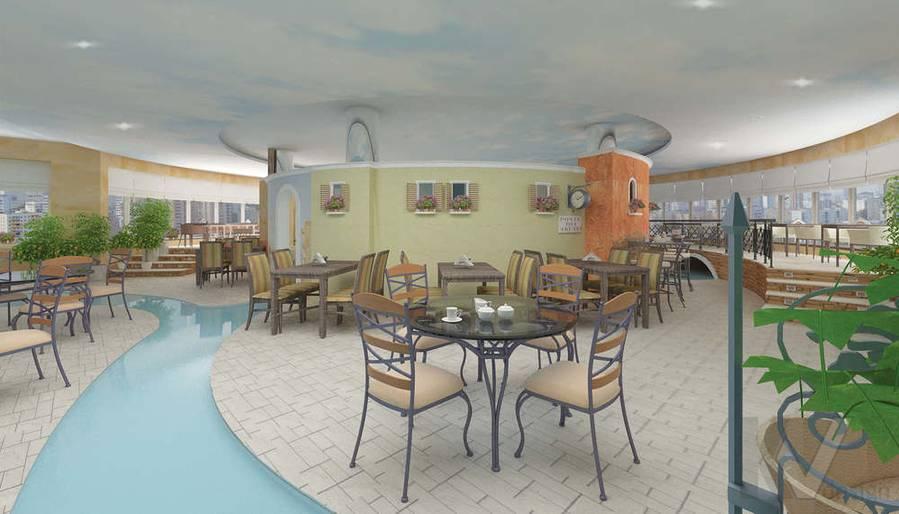 Дизайн ресторана, общий зал