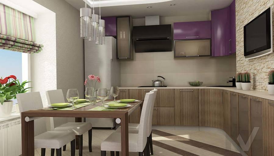 Дизайн двухкомнатной квартиры, Развилка, кухня - 1