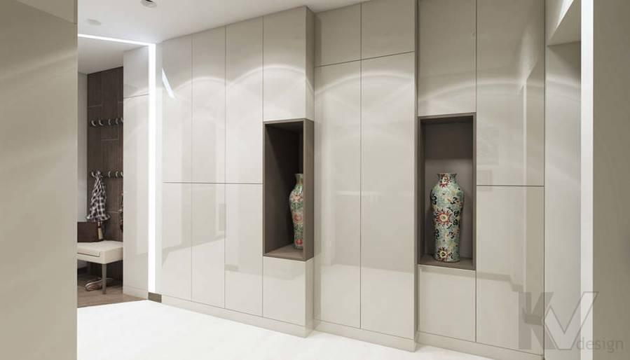Дизайн прихожей в 3-комнатной квартире П-3М, Новое Ясенево - 4
