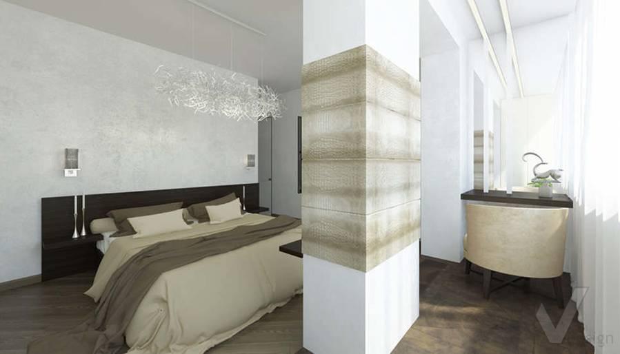 дизайн спальни в 3-комнатной сталинке, Старый Арбат - 3