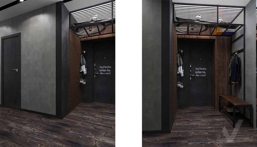 Дизайн прихожей в квартире П-44, м. Кузьминки - 3