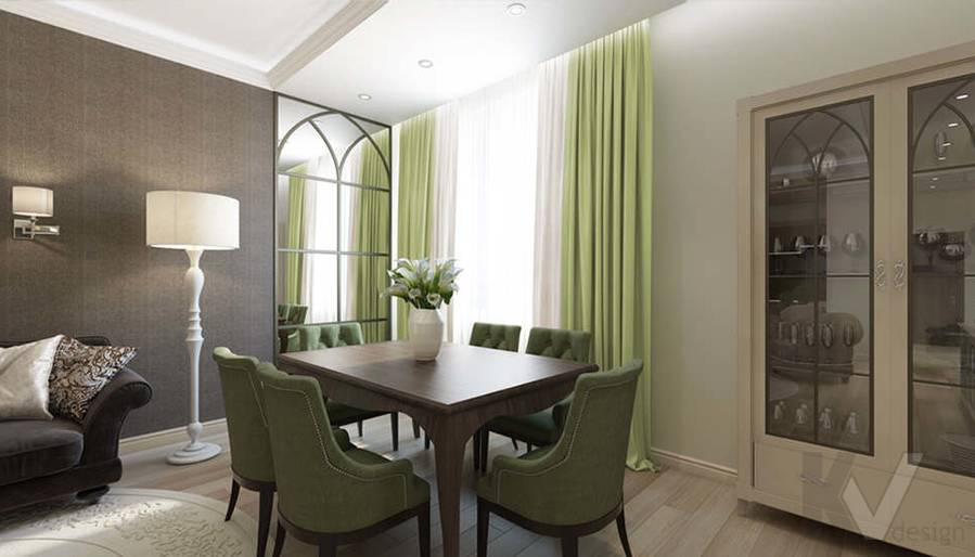 """Дизайн гостиной-кухни в 2-комнатной квартире, ЖК """"Авеню 77"""" - 6"""