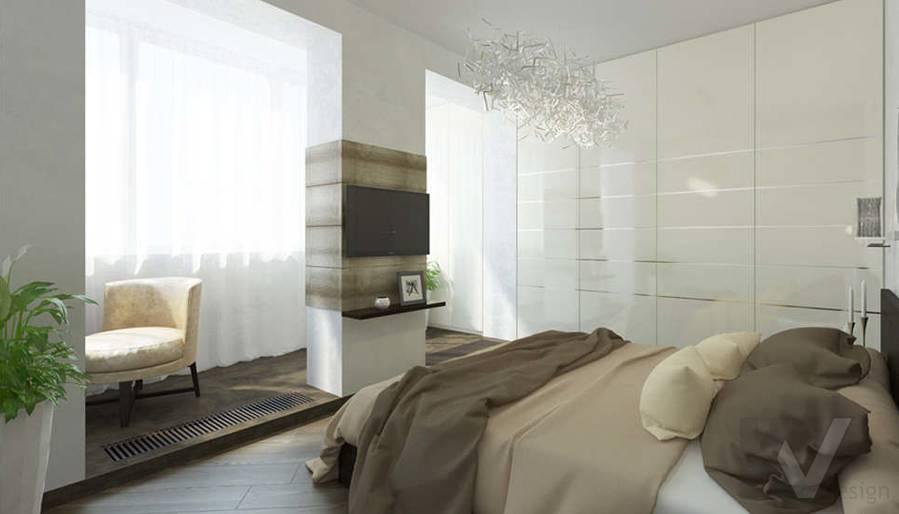 дизайн спальни в 3-комнатной сталинке, Старый Арбат - 1