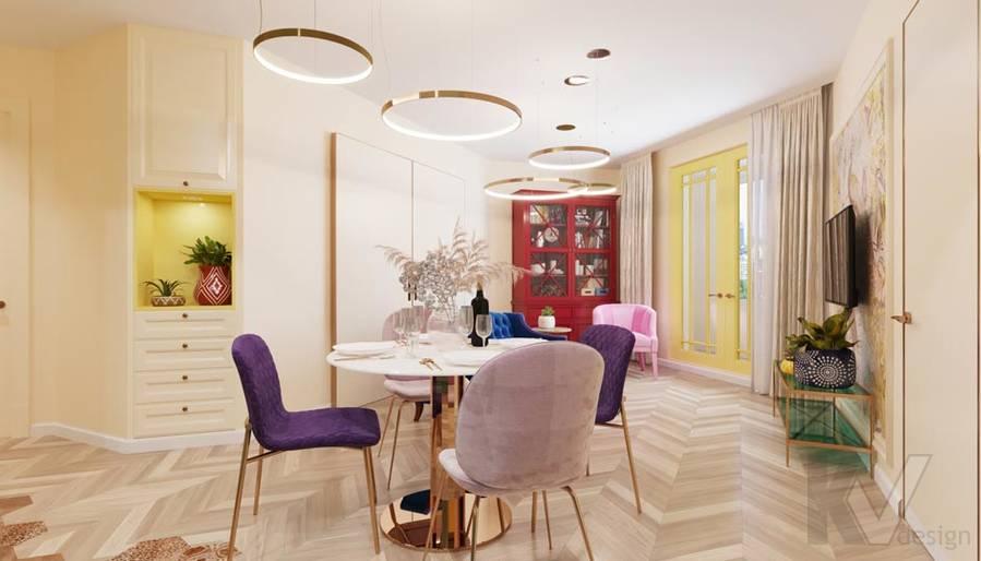 Дизайн гостиной-кухни в ЖК Летний Сад - 2