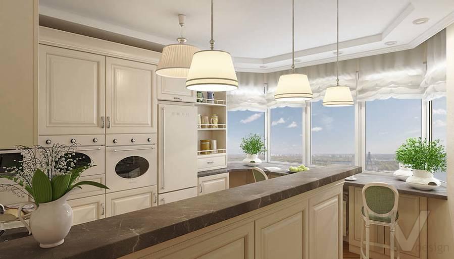 дизайн кухни в 3-комнатной квартире П-44Т - 1