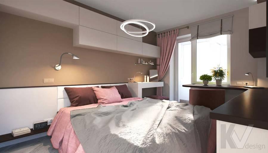дизайн спальни в 3-комнатной квартире, Войковская - 1