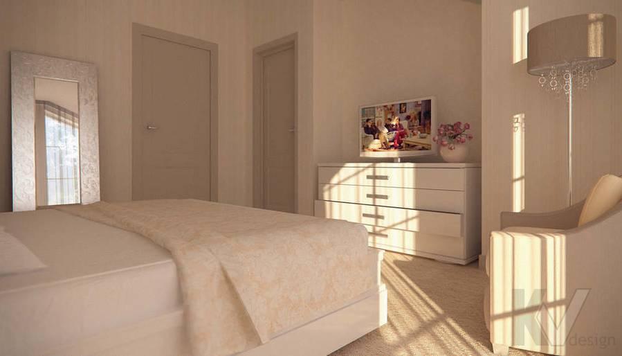 Дизайн таунхауса в п. Жаворонки, спальня-2