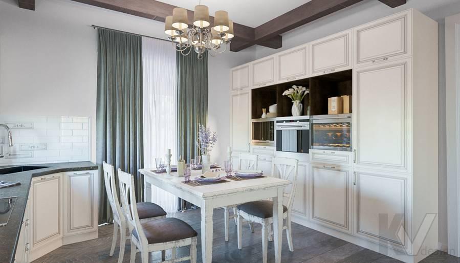 Гостиная-кухня на первом этаже в доме КП Дубровские Зори - 8