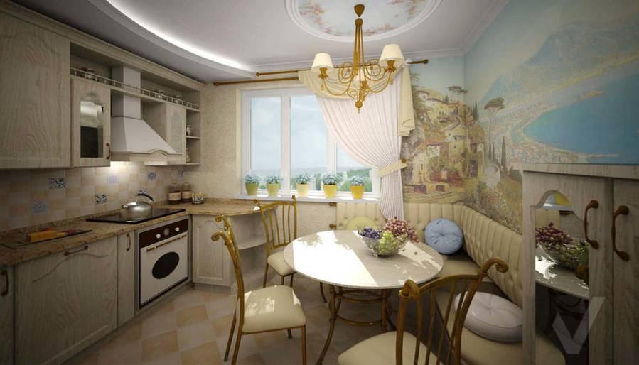 Дизайн квартиры П-3, кухня-2