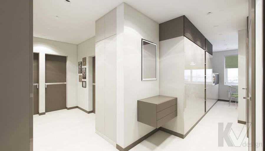 Дизайн прихожей в 3-комнатной квартире П-3М, Новое Ясенево - 2
