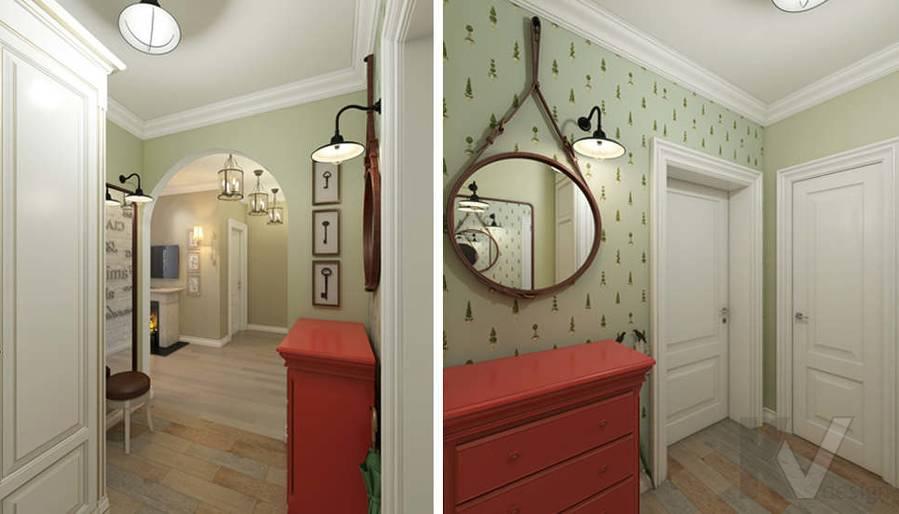 дизайн прихожей в 3-комнатной квартире, Новая Москва - 1