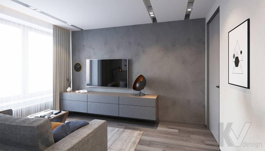Спальня в проекте объединения квартир, Мытищи - 5