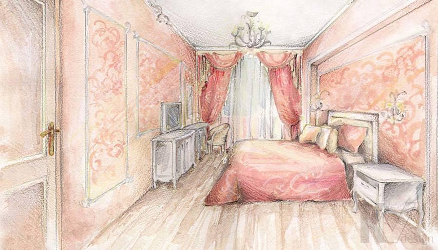 Дизайн 4-комнатной квартиры, Одинцово, спальня
