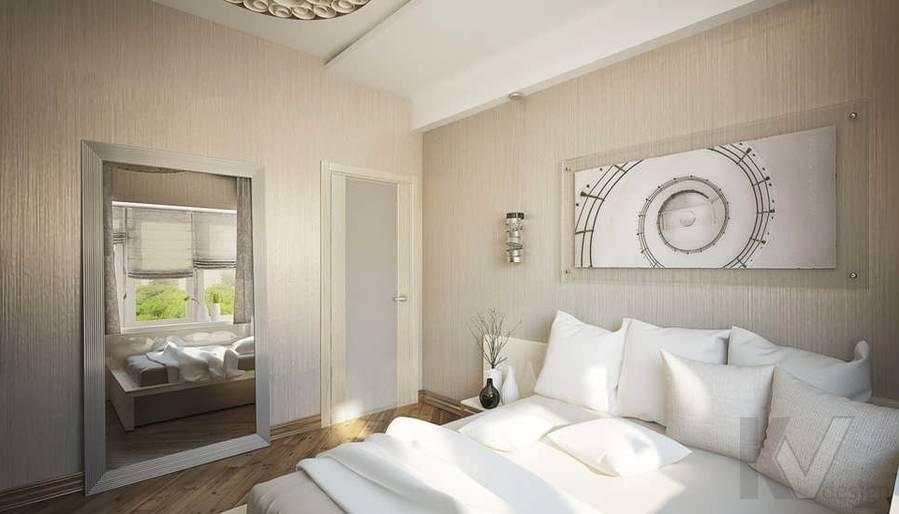 Дизайн квартиры на Старом Арбате, спальня - 3